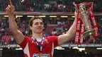 Wing George North shows off the Six Nations trophy to the Welsh supporters Welsh Rugby Players, Six Nations, Wrestling, Sports, Lucha Libre, Hs Sports, Sport