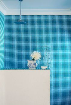 M s de 1000 ideas sobre ba os de azulejos blancos en - Banos con azulejos azules ...