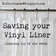 Find This Pin And More On DIY Cleaning Products. Organized Chaos ~ Life Of  A Mom: Saving Your Vinyl Shower Curtain Liner!