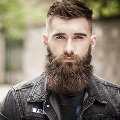 wonderfully thick brown beard and mustache beards bearded man men mens' style bearding #beardsforever