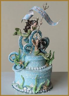 Awesome cake topper! My 8 year old is obsessed with fairies and mermaids lately.
