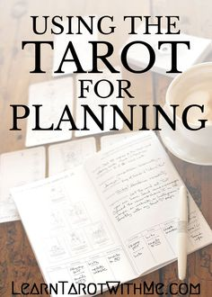 An extremely in-depth view of how I do my weekly planning, using the Goal Planning Tarot Spread from Learn Tarot With Me.