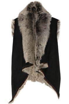 Donna Karan | Casual Luxe reversible shearling and suede vest