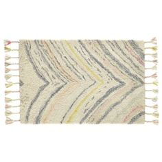 8 x 10' Marbled Layers Rug | The Land of Nod - love the fringe with the bed spread & color