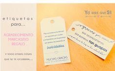 Blog de bodas - Yo dire que si: Etiquetas de agradecimiento para los invitados de tu boda. Plantilla descargable gratuita.