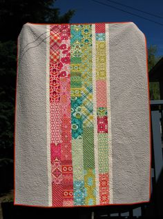 Patchwork quilt borders sweets Ideas for 2019 Scrappy Quilts, Easy Quilts, Mini Quilts, Strip Quilts, Quilting Fabric, Machine Quilting, Quilting Tutorials, Quilting Projects, Quilting Designs