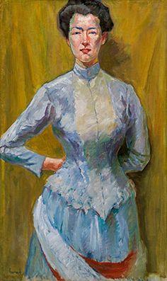 Edward Cucuel * (San Francisco 1875-1954 Los Angeles) Porträt einer Dame Öl auf Leinwand auf Karton; 90,5 × 55 cm