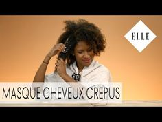ELLE BEAUTY - Tuto : Comment bien poser un masque sur des cheveux crépus ? - YouTube