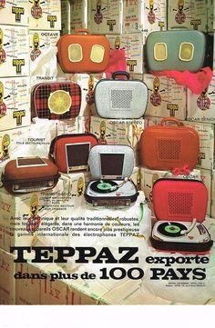PUBLICITE ADVERTISING 054 1965 TEPPAZ éléctrophone OSCAR in Collections, Objets publicitaires, Publicités papier | eBay