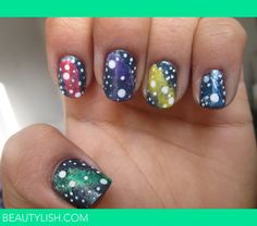 Galaxy Nails | Banu I.'s Photo | Beautylish