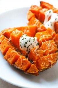 15 min roasted sweet potato