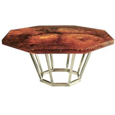 incredible vintage resin dining table.