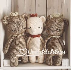 Newborn Teddy Bear,toy for little prince or princess with crow,baby gift,newborn baby gift cr Crochet Teddy, Cute Crochet, Crochet For Kids, Crochet Dolls, Newborn Toys, Newborn Baby Gifts, Baby Toys, Teddy Bear Toys, Teddy Bears