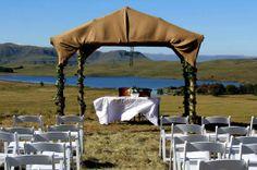 Drakensberg wedding venue, dam and mountain views,luxury, romance, honeymoon Lodge Wedding, Wedding Venues, Outside Wedding, Gazebo, Outdoor Structures, Outdoor Decor, Beautiful, Wedding Reception Venues, Wedding Places