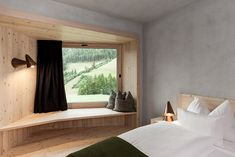 Hotel in the Aurina Valley, Italy with Excellent Views Over the Mountains Infinity Pool, Design Hotel, Daybed, Oversized Mirror, Places To Go, Italy, Windows, Curtains, Furniture