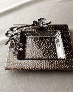 """""""Black Orchid"""" Mini Glass Dish - Michael Aram"""