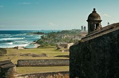 View of San Juan bay in Puerto Rico from the San Felipe del Morro Castle