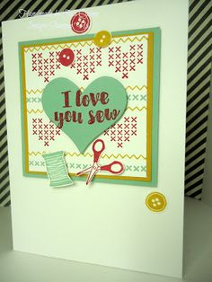 handmade by Julia Quinn - Independent Stampin' Up! Demonstrator: Love you Sew for Valentines