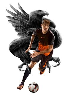 My retouching/illustrative work. Layout and conceptual work, Tom Fearn. For Nike through Village Green. Sport Inspiration, Poster Design Inspiration, Kraken, Tech Football, Football Boots, Good Soccer Players, Football Players, Digital Art Gallery, Sports Graphics