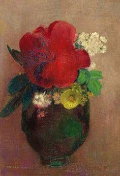 Odilon Redon, Vase with a Red Poppy, 1895
