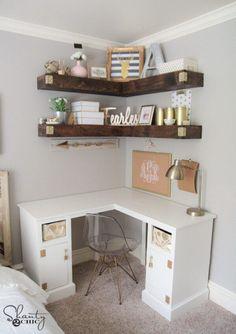 8 great wooden corner desk images desks desk nook home office rh pinterest com