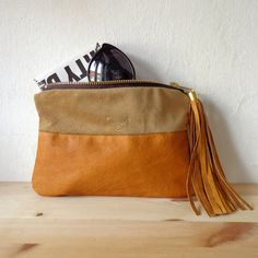 Natural leather purse / 100 repurposed leather by nextLIFEproject, $49.00