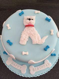 Westie dog lover birthday cake