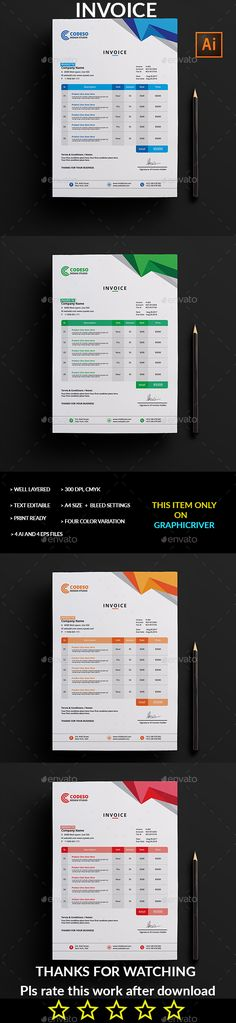 Invoice - Proposals & Invoices Stationery Download here: https://graphicriver.net/item/invoice/19296639?ref=alena994