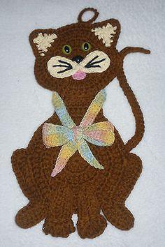 Nova Arte De Crochê Gato Panelas Parede Cozinha Chá De Bebê Decoração De Quarto