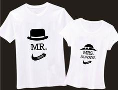 2x Couple Shirt, Matching Tees, Newlywed Shirt, Print Screen Shirt,Wedding Bridal Couple Shirt, Couple Matching Shirt,Mr and Mrs Shirt,Shirt...