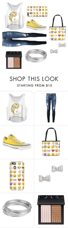 """""""Gina's emoji dayzz..."""" by rxbx4 on Polyvore featuring AG Adriano Goldschmied, Converse, Marc by Marc Jacobs, Worthington and NARS Cosmetics"""