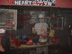 haunted house ideas - use the chicken coop