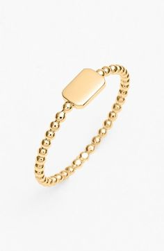 Bony Levy 14k Gold Rectangle Ring (Nordstrom Exclusive)