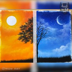 This Painting Result made me Cry Amazing art and painting ideas.You can find Painting canvas crafts and more on our website.This Painting Result made me Cry Amazing art and pa. Beginner Painting, Diy Painting, Painting & Drawing, Sunset Painting Easy, Canvas Painting Tutorials, Sunset Art, Painting Videos, Art And Craft Videos, Aesthetic Painting