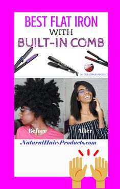Are you SURE that a flat iron with a built in comb for natural hair is your best option? If you think that a flat iron with teeth is the answer to straightening out your thick, natural hair until it's sleek and straight without heat damage. Pressed Natural Hair, 4a Natural Hair, Natural Hair Braids, Natural Hair Styles, Hair Straightener Reviews, Type 4 Hair, Best Flats, Monat Hair, Protective Hairstyles
