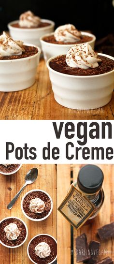 Impress you friends with this truly amazing vegan dessert: Vegan Pots de Creme. Quick and easy to make! Click the photo for the full recipe.