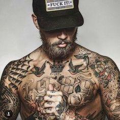 Beard + Tats