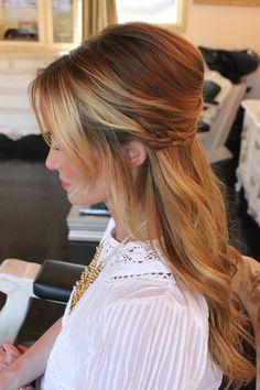 half up hair | DKW Styling