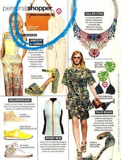 Gabsin oranssi nahkalaukku pääsi italialaisen Glamour-lehden kesäkuun numeroon!