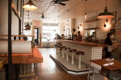 The Brooklyn Sandwich Society by IaIvanova, via Flickr / retro vintage retail shop design