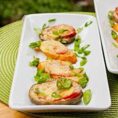 Baked Eggplant Circles. #recipes #foodporn #vegetarian #appetizers