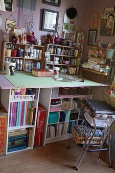 'Artroom - Craft Table...!' (via Cassandra Rae Nelson on Flickr)