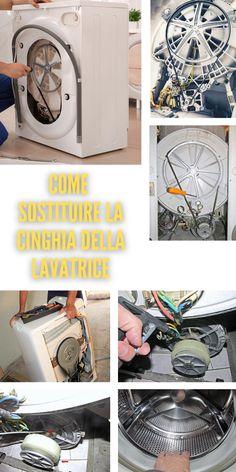 Perché occorre, talvolta, sostituire la cinghia della lavatrice? #cinghia #lavatrice #sostituire #elettrodomestico #rumore #puliziacomponenti #centrifuga #pulizia #motore #disincostrare #feritoie #lubrificare #cuscinetti Rumore, Diy Tutorial, Home