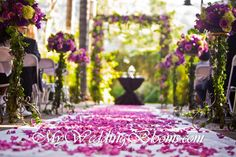 nice purple fall outdoor wedding