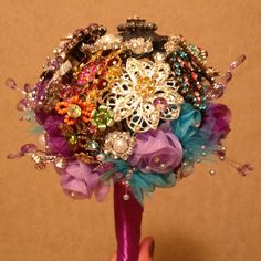 My DIY brooch bouquet!