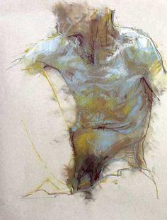 Cian McLoughlin, Torso ~ chalk pastel  /The Molesworth Gallery - Dublin, Ireland