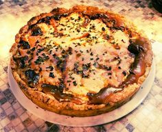 German pie with smoked salmon
