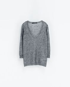 Image 6 of V-NECK JUMPER WITH SEQUINS from Zara