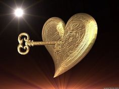 A GOLDEN HEART WITH THE GOLDEN KEY TO IT.