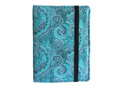 This Beautiful Turquoise Paisley Hard Cover Case will help protect your favorite e-book reader from scratches, smudges, and dust. The hard cover case folds over so you can hold it in one hand while reading. This cover features an elastic band closure which can easily be flipped to the back while using your reader. *****Click on the photo or go to www.etsy.com/shop/LisasBagstoRiches for more information or to make a purchase!